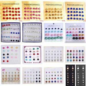 Fashion-Crystal-Pearl-Tassels-Earrings-Set-Women-Stud-Dangle-Drop-Jewellery-Gift