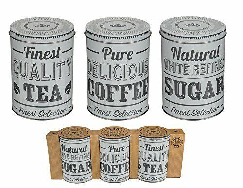 3pc Set Contenitore Rotondo In Metallo Tin Box Coperchio Caffè Tè Zucchero Barattolo Cucina Storage Adottare La Tecnologia Avanzata
