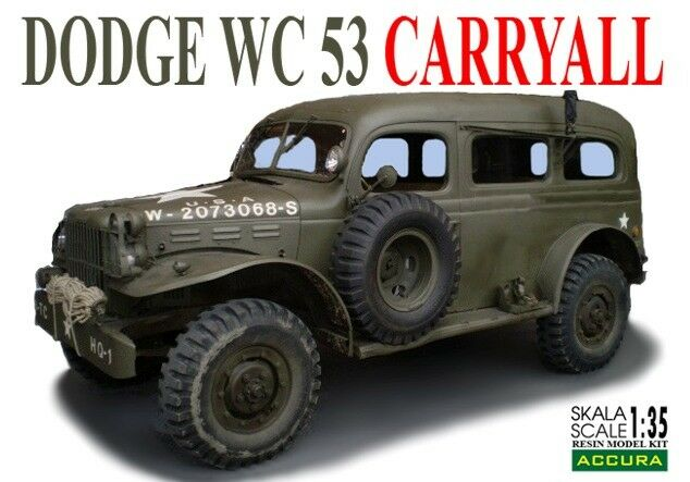 DODGE WC 53 CARRYALL 1 35 ACCURA (RESIN KIT) RARE