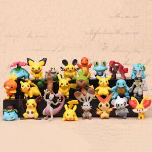 24Pcs Tomy Different Styles Pokemon Figures Model Collection 2-3cm Pokémon Pikac