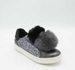 Details about Geox Girls Shoes with Glitter Grey and Pom Pom Shoe Women j824md DJ Rock show original title