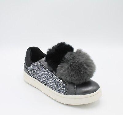 Geox Scarpe da bambina con glitter grigio e pom pom scarpa donna J824MD Dj Rock | eBay