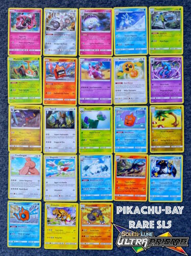 Complete set 23 rare sl5 ultra prism new french version