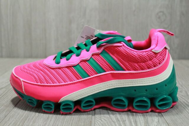 60 Adidas Womens MicroBounce T1 EF4886 Shock Pink Green Off White Shoes 9