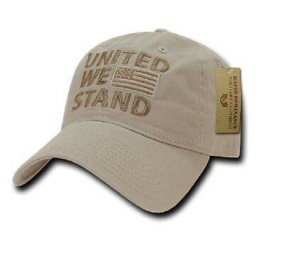 Rapdom Polo Style Usa Cap United We Stand Od Green W Us Bandiera Cachi-mostra Il Titolo Originale Alta Sicurezza