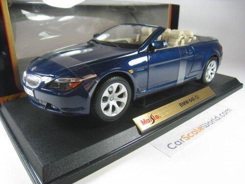 BMW 6 SERIES CABRIOLET 645CI 1  18 MAISTO (blå)