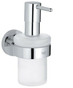 Grohe Essentials Bathroom Glass Soap Dish Holder Grohe StarLight Chrome 40369000