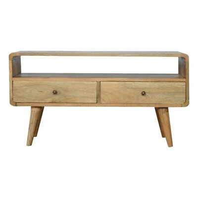 the latest 18038 ec49a Mid Century Style TV Cabinet Media Unit Solid Wood Natural Finish | eBay