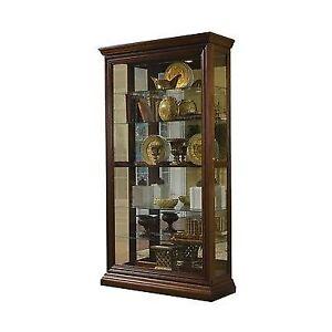 Pulaski Curio Cabinet In Edwardian Cherry   21015