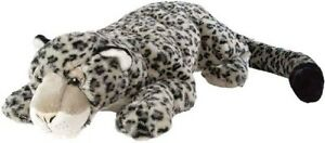 Plush Jumbo Stuffed Snow Leopard Realistic Animal Super Soft Huge Toys Doll Gift