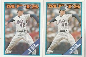 FREE-SHIPPING-MINT-1988-Topps-355-Roger-McDowell-New-York-Mets-2-CARDS