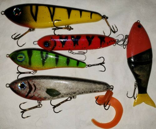Details about  /LOT 5 Large Lures Baits For Muskie Musky Pike Large Bass