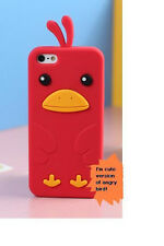 iPhone 5 5S silicone case--Cute Funny Duck Bird---US seller Fast shipping