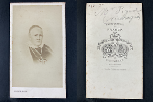 Franck, Paris, Monseigneur Pignol, évêque Vintage cdv albumen print CDV, tirag