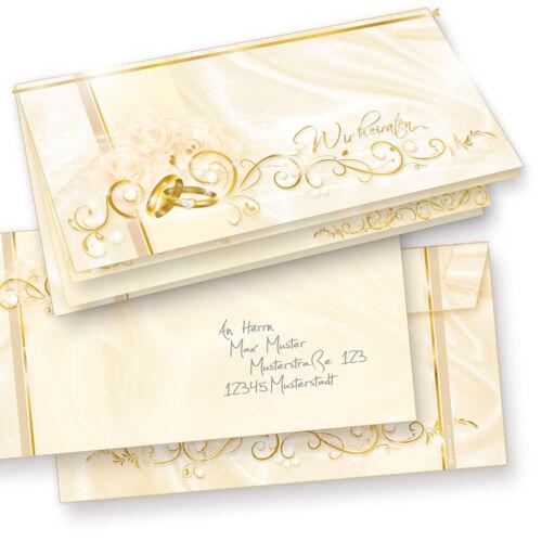 Einladungskarten Hochzeit PERLMUTT Einladung selbst bedruckbar