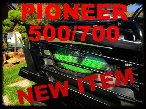 2014-17 Honda HONDA PIONEER 500 700 GREEN EYES Head light Covers Set of 2