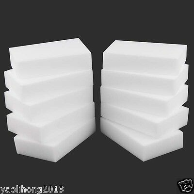 10PCS BIG MAGIC SPONGE ERASER CLEANING MELAMINE FOAM CLEANER 110X 70 X 30MM