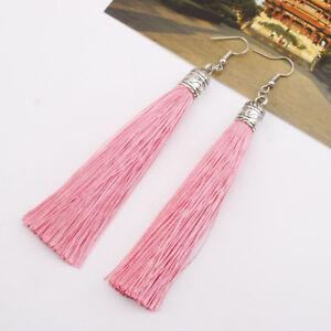Fashion-Jewelry-Long-Tassel-Fringe-Boho-Earrings-Hook-Drop-Dangle-Eur-Hot