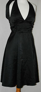 Apricot-Ladies-Black-Party-Casual-Halterneck-Dress-size-S-8-CLEARANCE