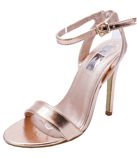 Ladies Rose Gold Ankle-strap Elegant