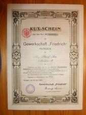 D: 1906 !!! Kux-Schein der Gewerkschaft Friedrich, Hungen, 1000 Mark*
