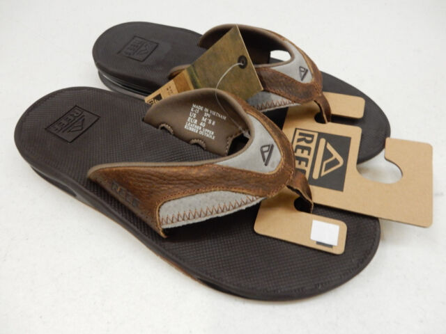 45cf541cf877 Reef Mens Leather Fanning Sandal Brown brown 13 M US for sale online ...