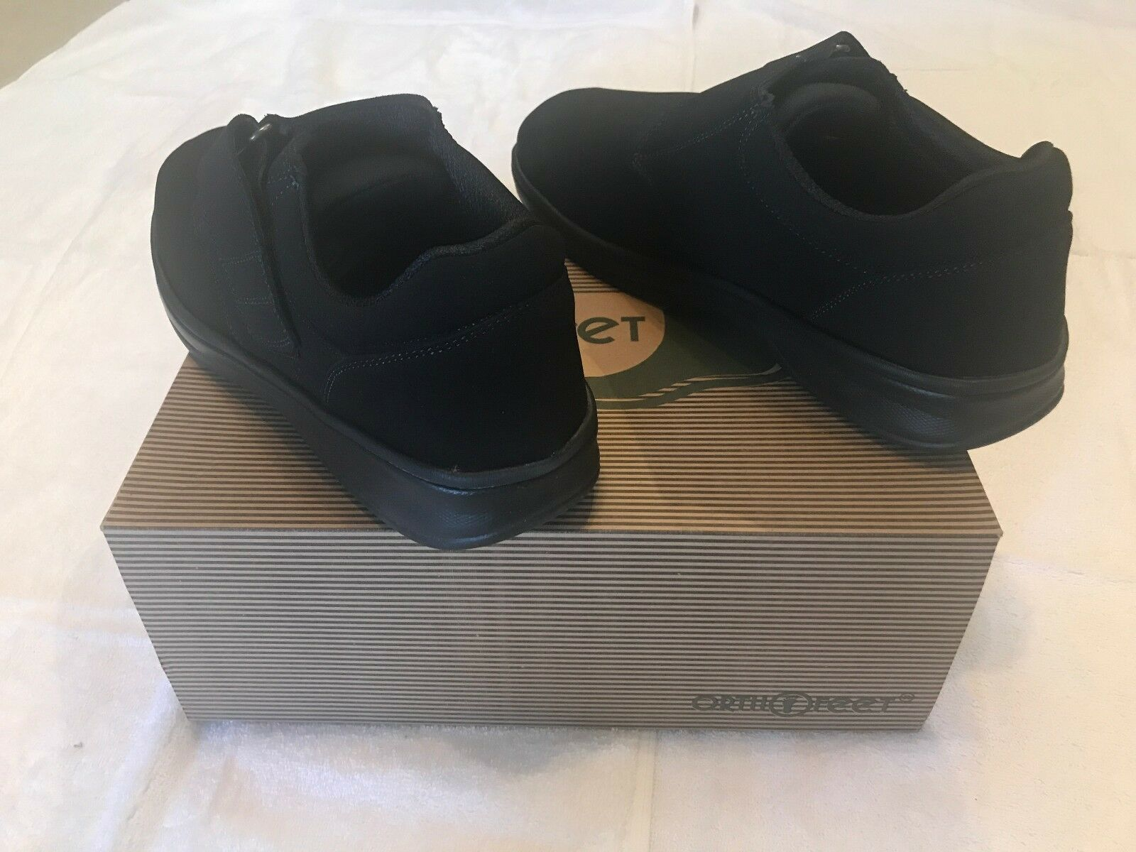 NIB Hook ORTHOFEET Bismarck #525 Hook NIB  Loop Strap Nero Shoes Uomo Size 8.5 XXW bf98b2