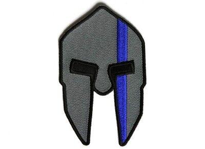 "Vest 5289 SPARTAN HELMET BLUE LINE for POLICE 2.5/"" x 4/"" iron on patch H34"