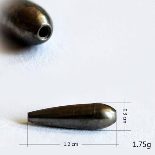 Tungsten Bullet Worm Weight Flipping Fishing Sinker Lure Fishing Accessory PTSEC