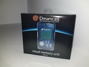 SEGA-DREAMCAST-BLUE-VISUAL-MEMORY-UNIT-CARD-VMU-MINT-CONDITON-NEW-BATTERY-IN-BOX