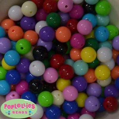 14mm Mint Acrylic Solid Bubblegum Beads Lot 20 pc.chunky gumball