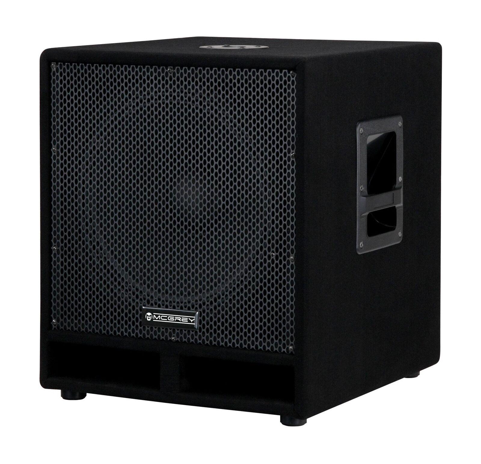 Speaker Monitor Subwoofer DJ PA Box Passive 15  35cm Audio Hifi Woofer 1200W