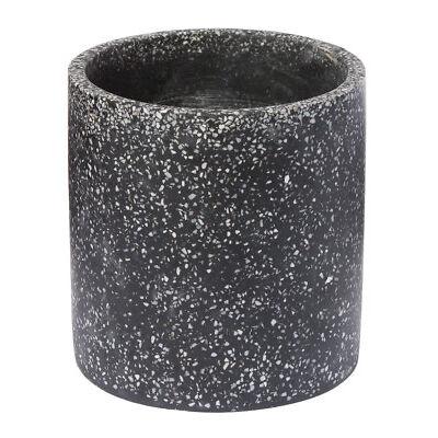 New Handmade Terrazzo Pot Plant/Storage D14.9*H15.1CM 3 Colours Black/Pink/White