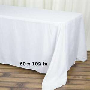 "60""x 102"" Rectangle Linen Tablecloth Great Weddings. Choose Your Color!"