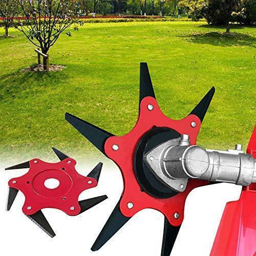 6 Tooth Manganese SteelGrass Trimmer Head Brush Cutter Blade Garden Power  Tools