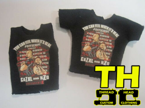 Nzo /& cazxl freeagentz Mattel Elite Custom Roh Chemise WWE Pack