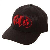 Black Harley Quinn Lace Fabric Adjustable Size Baseball Hat Cap Batman Logo Dad