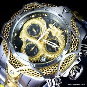 Invicta-Reserve-Venom-III-Dragon-Scale-Steel-Swiss-Mvt-Two-Tone-52mm-Watch-New