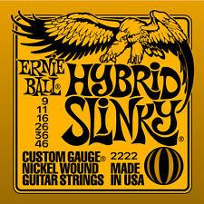 Ernie Ball 2222 Nickel Hybrid Slinky Electric Guitar Strings Orange 9-46