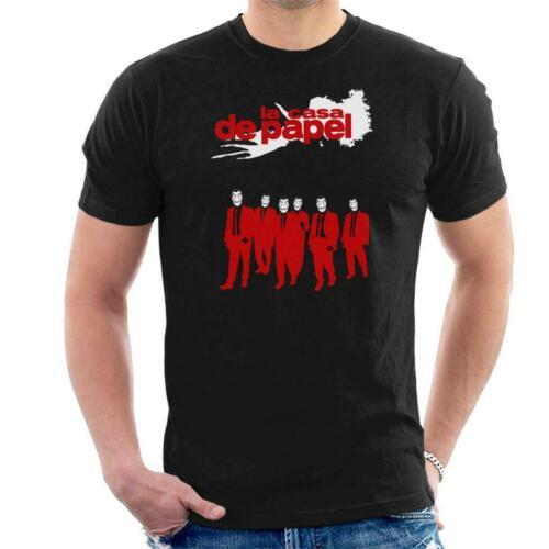 La Casa de papel Depósito Perros Para hombres Camiseta