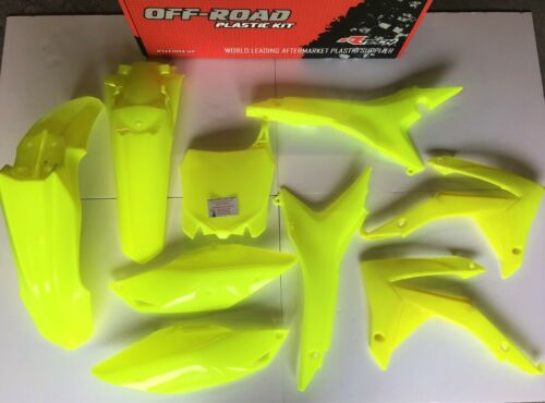 CRF 450 R 13-16 CRF 250 R 14-17 Neon Flo Yellow Racetech Plastic Kit Plastics