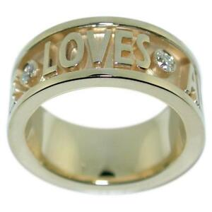 0-34-Ct-Diamonds-034-Loves-All-Of-You-All-Of-Me-034-Women-039-s-Ring-14k-Gold-Size-6-5
