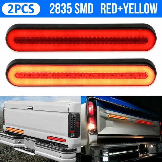 2x 100 Led Trailer Truck Stop Flowing Turn Signal Brake