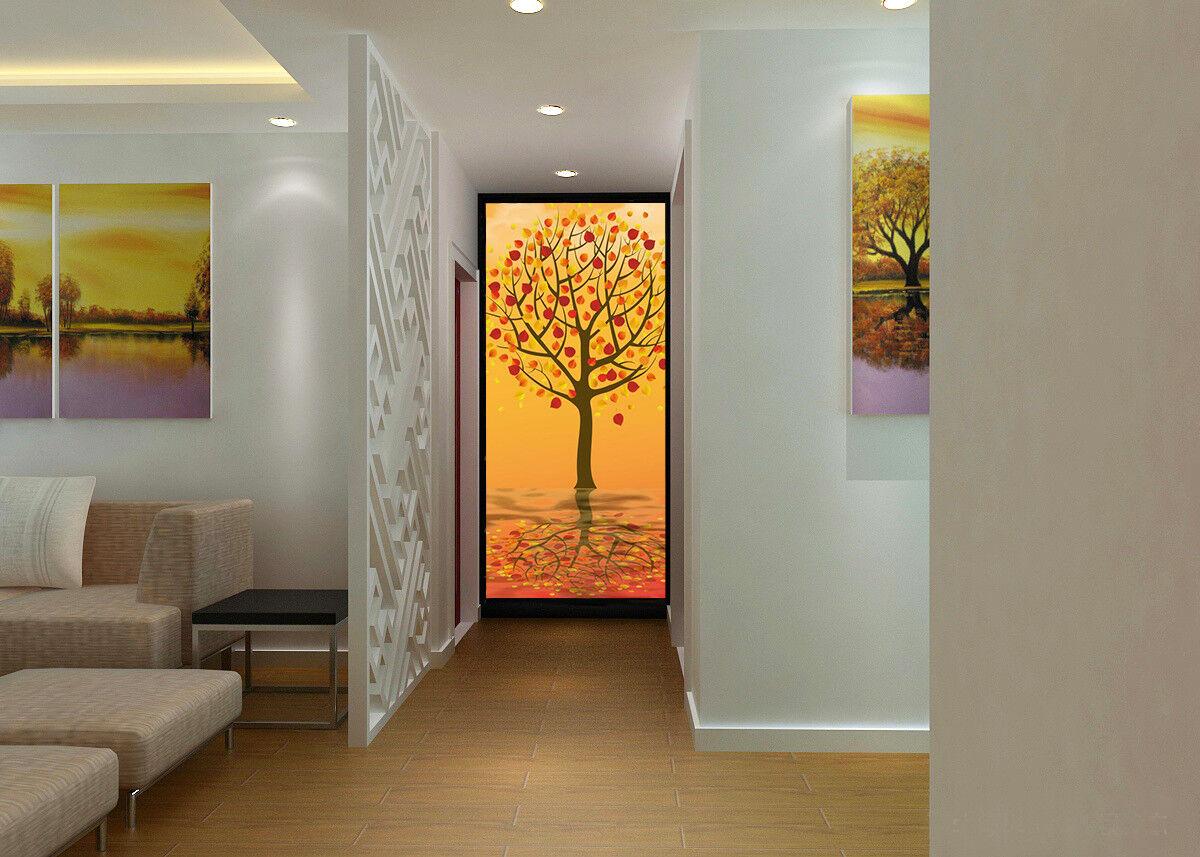 3D Red Tree Flower 888 Wallpaper Mural Wall Print Wall Wallpaper Murals US Carly
