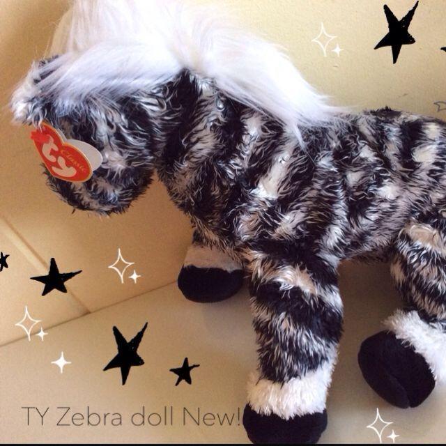 Big Zebra Zebra Zebra TY Plush Plushies Doll Stuffed Toy Toys Retired d22b73