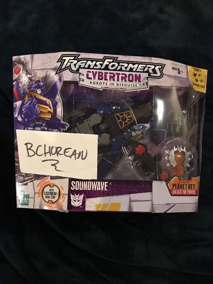 Entrega directa y rápida de fábrica Transformers Cybertron Voyager Class SOUNDWAVE Con LASERBEAK Minicon Minicon Minicon 2006 Nuevo  entrega rápida