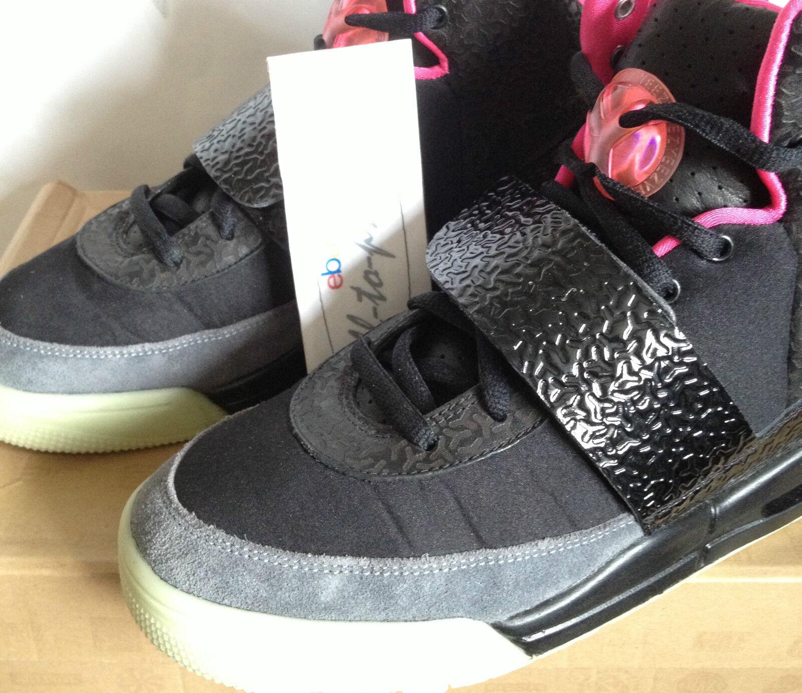 (utilizzato) Nike Air Yeezy 1 uno BLINK US8.5 UK7.5 UK7.5 UK7.5 NERO 366164-003 luminescenza Kanye West | La prima serie di specifiche complete per i clienti  | Sig/Sig Ra Scarpa  6aa0a9