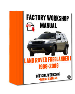 Official Workshop Manual Repair Land Rover Freelander 1998 2006 Ebay