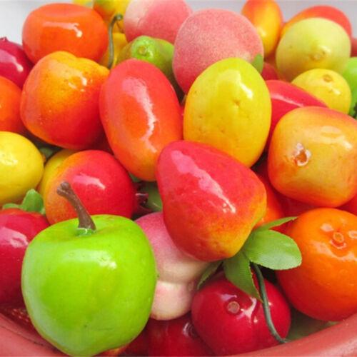 10pcs Many Kinds Of Fruit Miniature Dollhouse Decoration Handmade Food SupplyFH