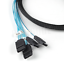2Pcs-Internal-Mini-SAS-SFF-8087-to-4x-SATA-7-Pin-Forward-Breakout-Cable-3-28Feet thumbnail 4